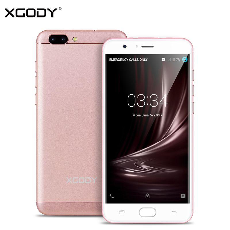 XGODY D18 5.5 pouces 4G LTE Smartphone Android 6.0 Quad Core 1 GB RAM + 16 GB ROM 8.0MP + 13.0MP double SIM débloqué téléphones cellulaires Telefon