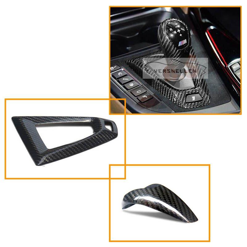RHDCarbon Fiber Steering Wheel Trim Carbon Gear Knob Cover For BMW M2 F87 E92 E93 M3 F80 M3 F82 F83 M4 F10 M5 F12 M6 F15 F16 X5M