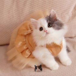 Hot Jual BLING BLING Cat Pernikahan Dress Anjing Kucing Gaun Tutu Pesta Hewan Peliharaan Gaun Pakaian untuk Kecil Hewan Peliharaan Kucing Gratis pengiriman