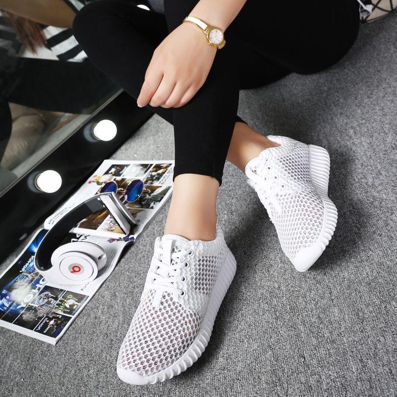 Somix Новый Для женщин спортивная обувь Летний стиль 2017 г. (сетчатый материал) Кроссовки для Для женщин удобные дышащие белые Спортивная обувь ...