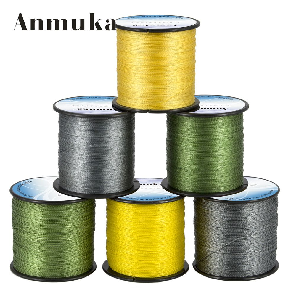 Anmuka PE Wire 500M  4 Strands Braided Fishing Line Multifilament Line For Sea Fishing Japan 8 10 20 30 40 60 LB