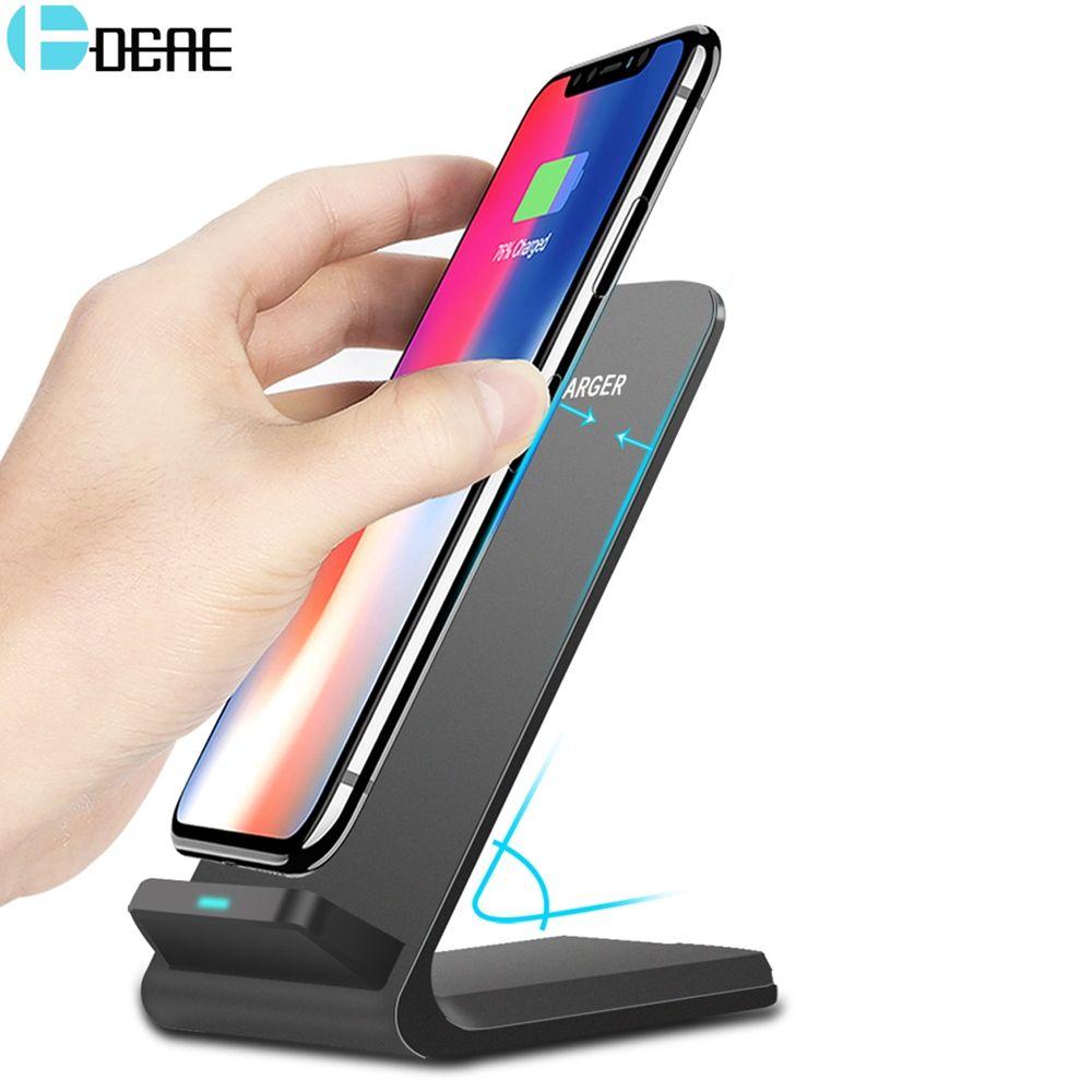 DCAE 10 W Qi Chargeur Sans Fil Pour iPhone X XS Max 8 Plus Rapide De Charge support pour samsung S9 S8 Xiaomi mix 2 s Téléphone Chargeur Rapide