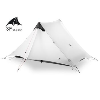 2018 LanShan 2 3F UL GETRIEBE 2 Person Oudoor Ultraleicht Camping Zelt 3 Saison Professionelle 15D Silnylon Kolbenstangenlosen Zelt