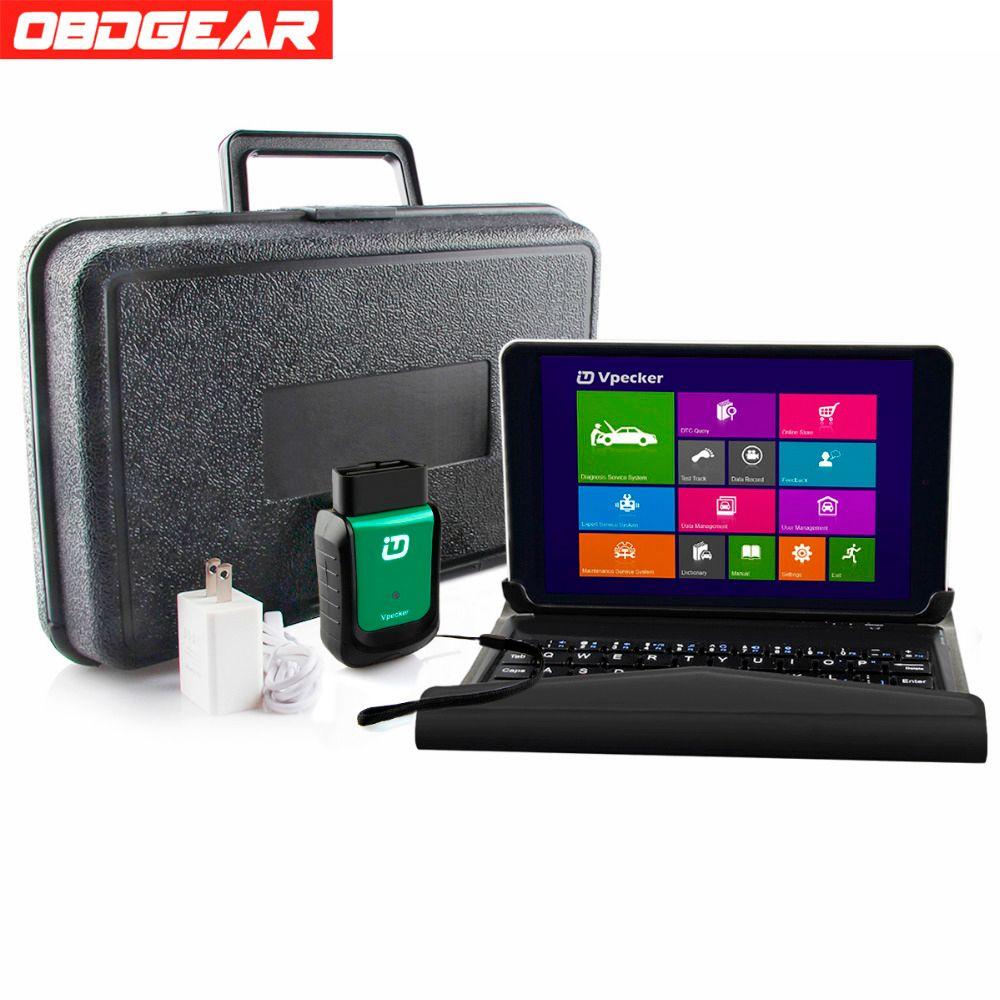 Best Vpecker Easydiag V10.4 Auto Diagnostic Scanner OBD2 Wifi OBD 2 Automotive Scanner 8 inch Windows 10 Tablet OBD 2 Scanner