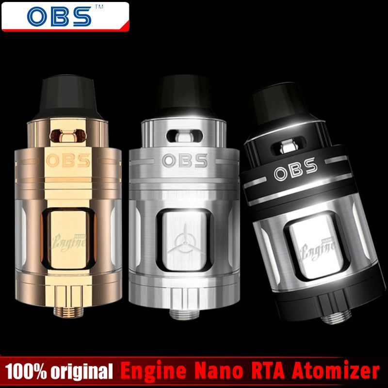 100% Original OBS Engine Nano RTA Atomizer 5.3ml Engine Nano Rebuiltable Tank Atomizer Electronic Cigarette Vaporizer