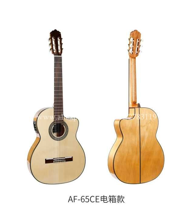 2018 New arrival Flagship Handmade 39 Electric Acoustic Flamenco guitar With Solid Spruce/Aguadze Body,Electric Classical guitar