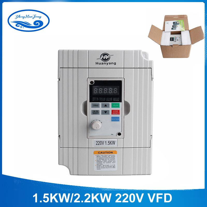 Free Shipping 220v 1.5kw/2.2KW vector Inveter VFD Frequency Converter Variable Frequency Drive Motor Speed Control