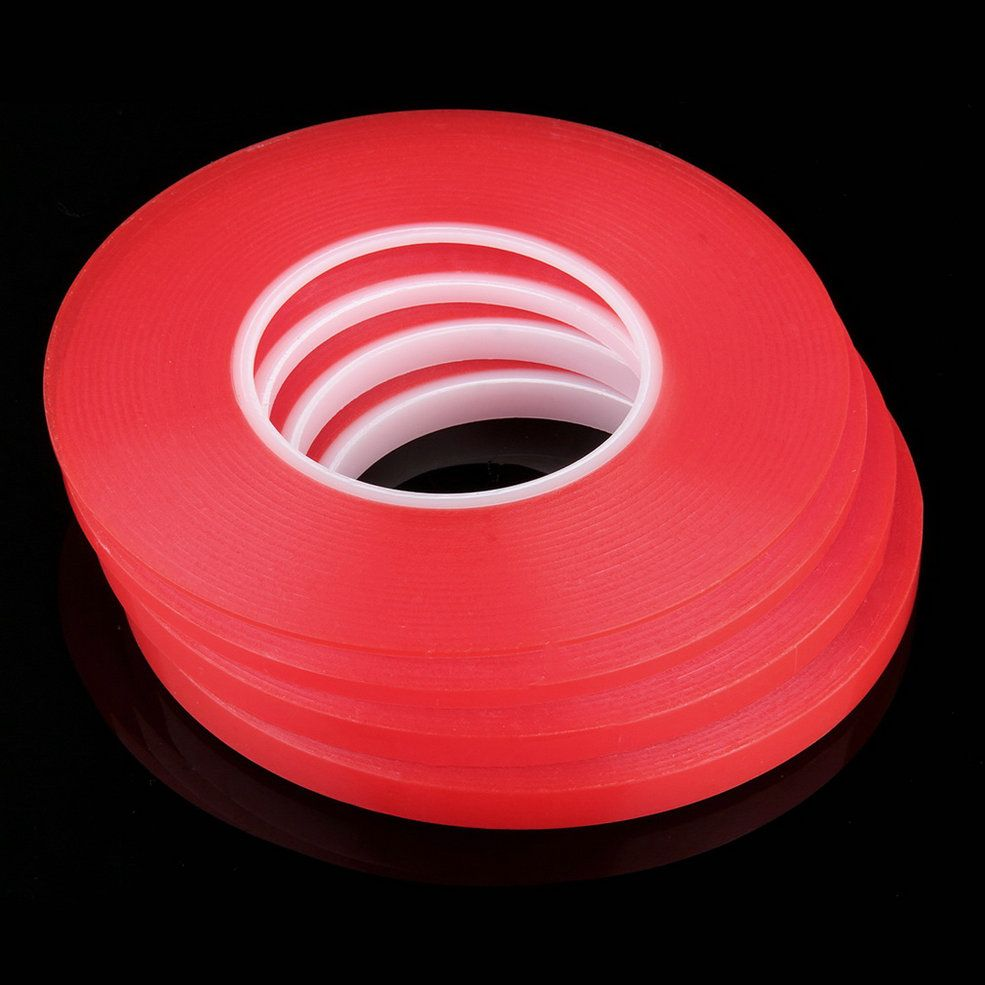 En todo el mundo 50 M * 10 MM Fuerte Adhesivo Acrílico Cinta de Doble Cara Cinta Adhesiva Resistente Al Calor Multi-función
