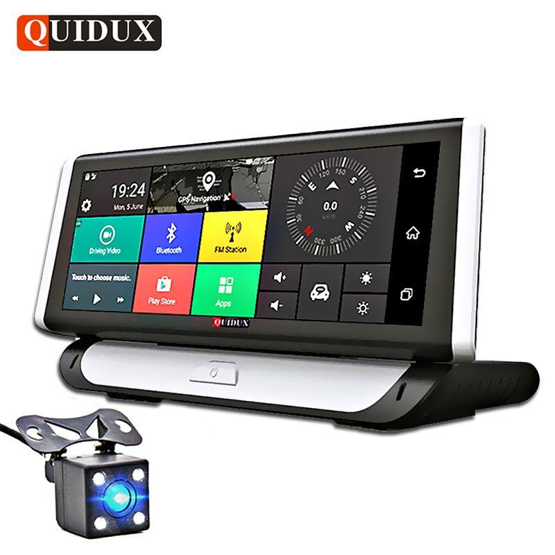 QUIDUX 4G ADAS 1080P Car DVR Camera GPS Navigation 8.0
