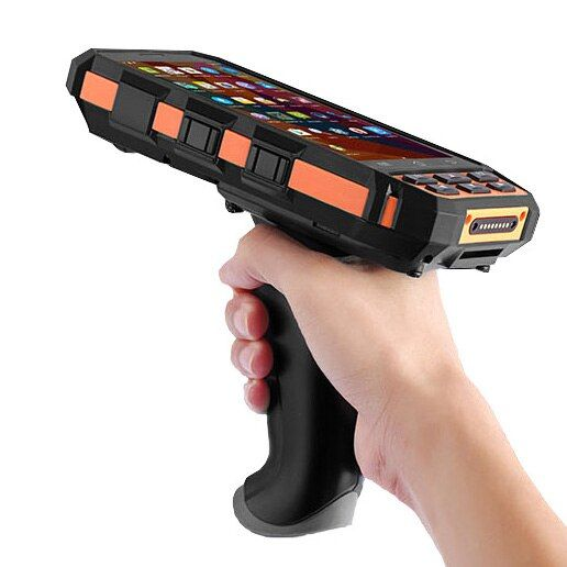 5 zoll Robuste Handheld Mobile Terminals Wifi Bluetooth GPS Kamera 4g 1D Barcode Scanner PDA Handheld Scanner Mit Pistole grip