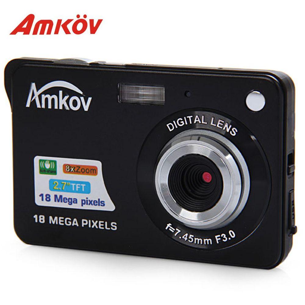 Amkov CDC3 2,7 Zoll Digitalkamera TFT HD Bildschirm 18.0MP CMOS 3.0MP Anti-shake 1080 P Digitale Videokamera mit 8-fachem Zoom