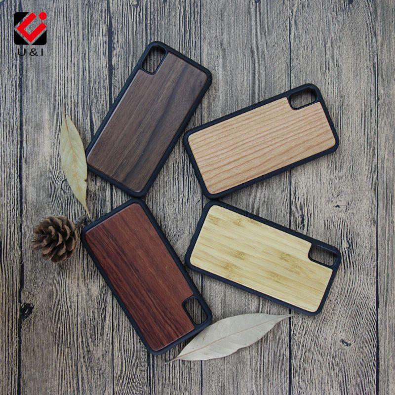 Новые U & I древесины бамбука чехол для телефона для iPhone X Apple IX плотная орех вишня палисандр Полный ТПУ Защита крышка пустой Капа Fundas