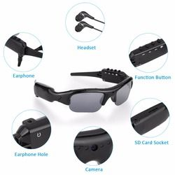 New Outdoor Recording Camera Sunglasses Bluetooth 4.0 1080P HD Video Recorder & Photograph Polarized Glasses Protective Glasses