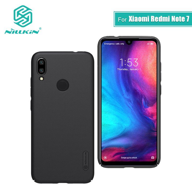 Redmi note 7 étui 6.3 NILLKIN givré PC mat couverture arrière rigide cadeau support pour téléphone pour xiaomi redmi note 7 pro étui redmi note 7 s
