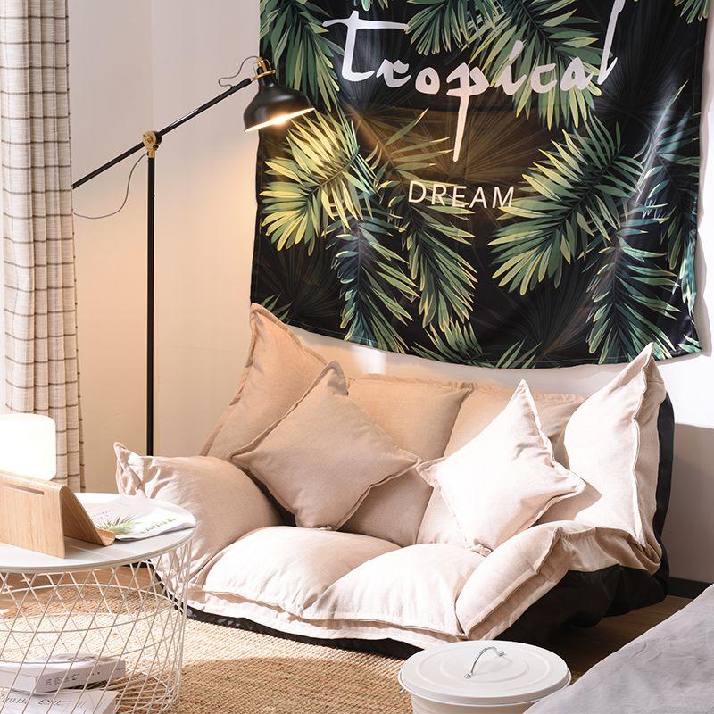 Boden Sofa Bett Lounge Einstellbare Faltbare Moderne Freizeit Sofa Bett Video Gaming Sofa mit Zwei Kissen Für Schlafzimmer Wohnzimmer
