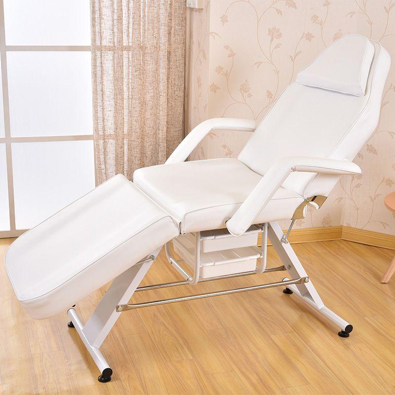 Massage Facial Table Bed Chair Beauty Spa Salon Equipment White Leather Multi-purpose Salon Chair / Massage Table / Facial Bed