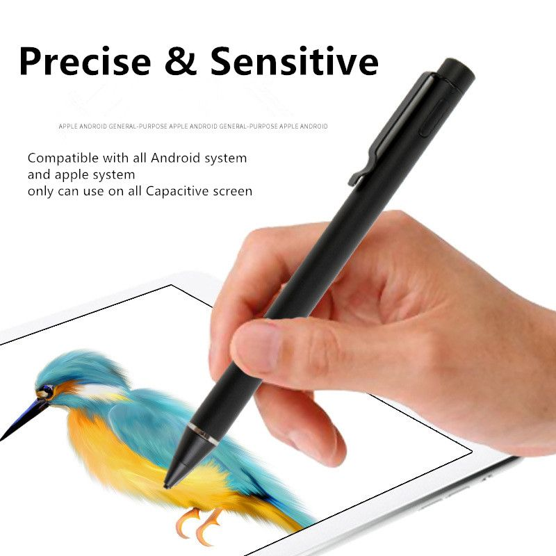 Active Stylus pencil with Metal penpoint for drawing studing writing for Apple system for android system for capacitive screen