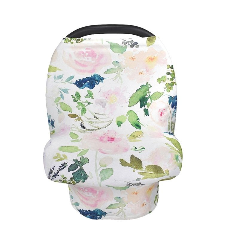 Baby Car Seat Cover Canopy Pineapple Flowers Nursing Cover Multi-Use Stretchy Infinity Scarf Breastfeeding Shopping Cart Cover