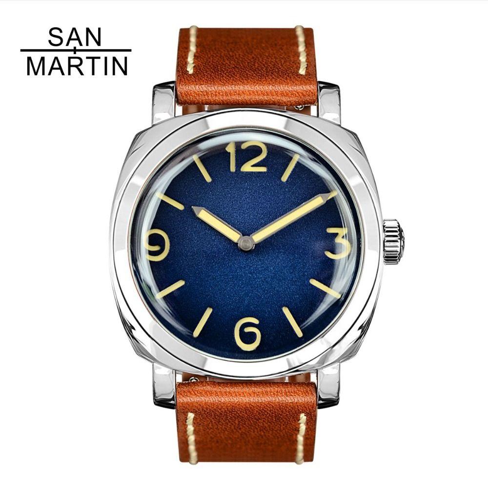 San Martin Männer Mode Uhr Automatische Tauchen Uhr Vintage Stainlss Stahl Armbanduhr 200 m Wasserdicht Montre Homme Männer