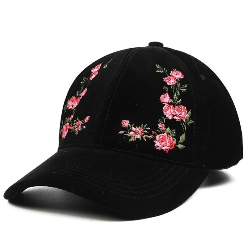 Women's Cap Red Rose Flower Summer Snapback Dad Hat For Men Women Unisex Chinese Style Baseball Cap Female Sun Club Party