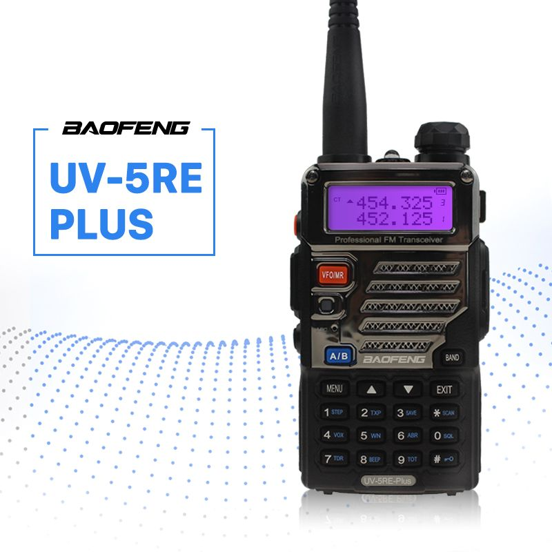 BaoFeng UV-5RE Plus Walkie Talkie 128CH Dual Band VHF 136-174MHz&UHF 400-520MHz Transceiver Two Way Radio Portable Interphone