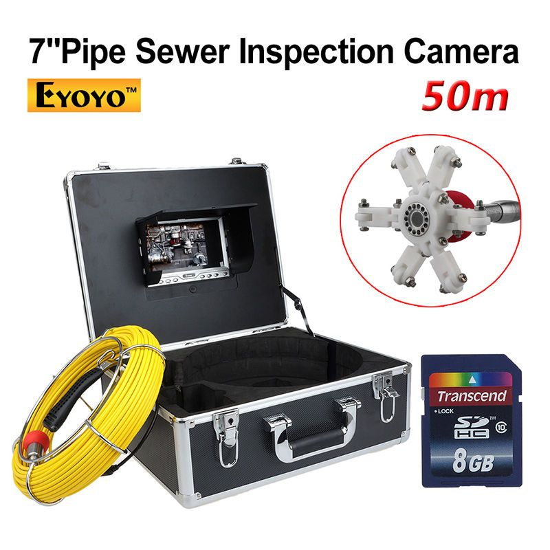 EYOYO 50M Sewer Pipe Waterproof Video Camera 7