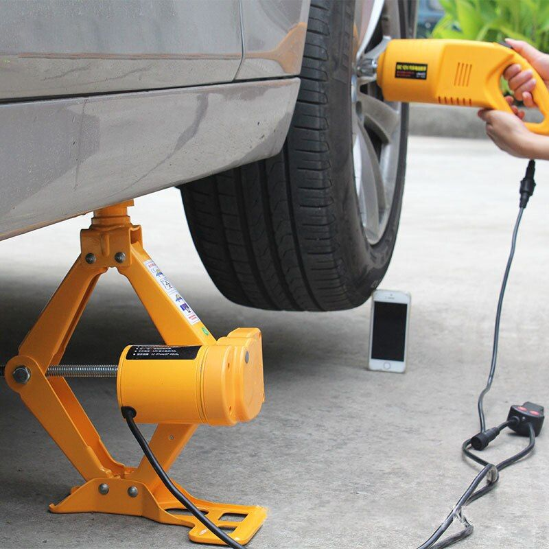 12V Electric Scissor-type Jack Car Car Electric Jack Vehicle Electric Wrench Tire Remover Equipment Car Electric Air Cannon