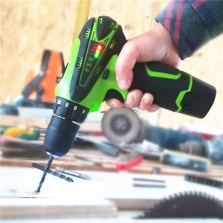 12 V tournevis électrique batterie au Lithium Rechargeable Parafusadeira Furadeira multi-fonction sans fil perceuse électrique outils électriques