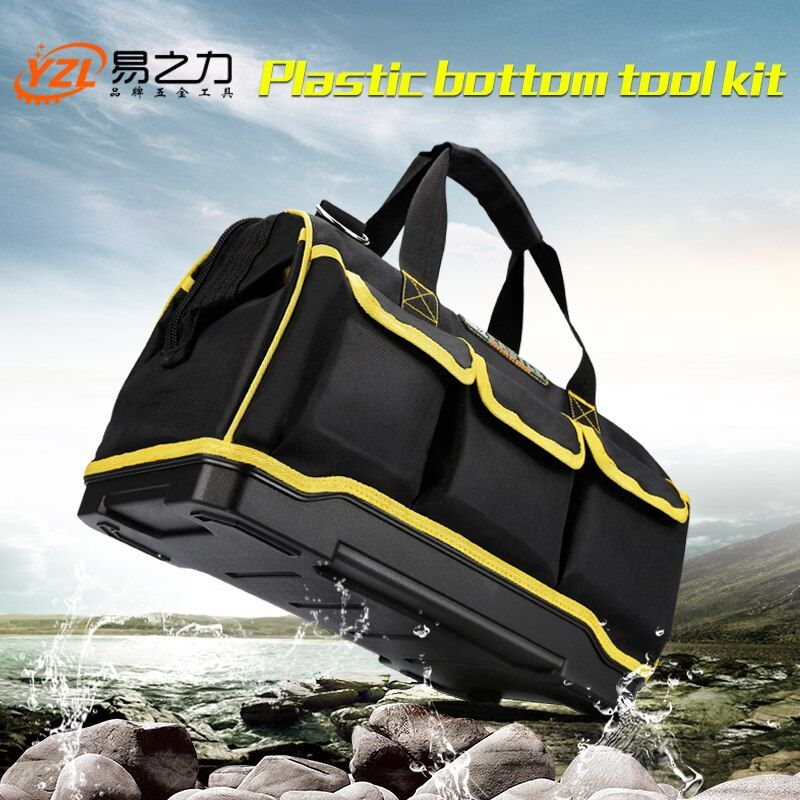 Multifunction Tool Bag Large Capacity Thicken Professional Repair Tools Bag 12/15/ 17/19 Messenger Toolkit Bag