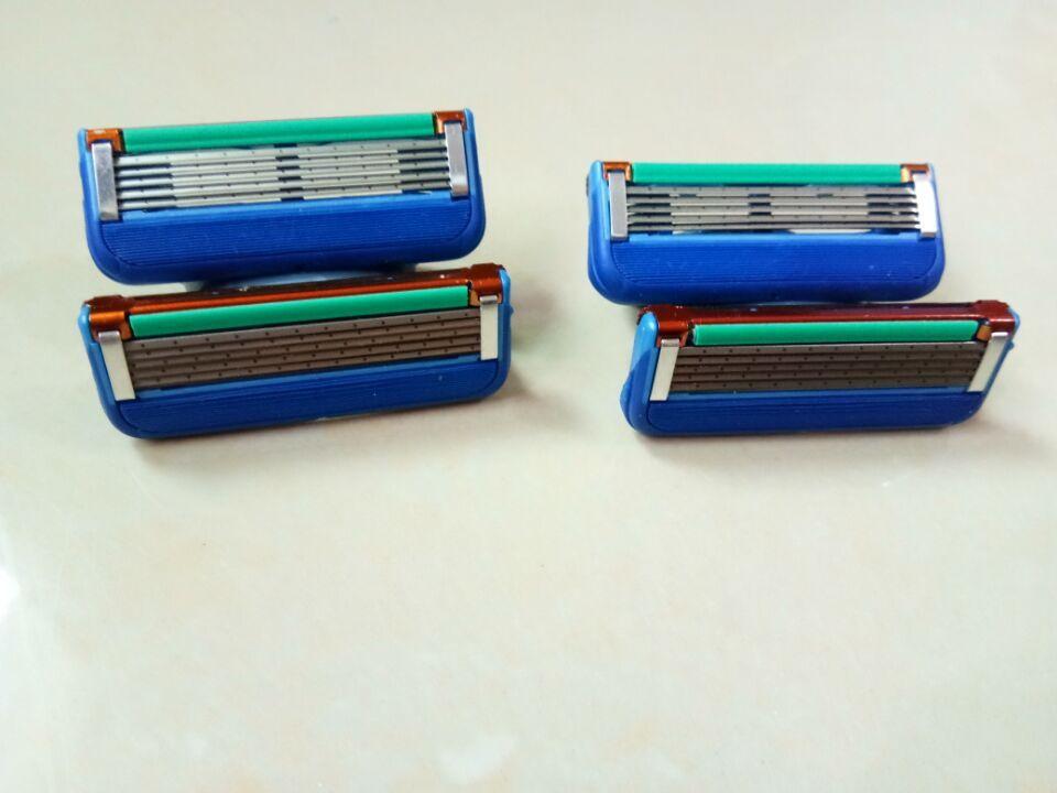 GFLV/8pcs/lot Brand Quality proglide Mens Standard Blades Fusione Power 5 shaving razor blade for mens