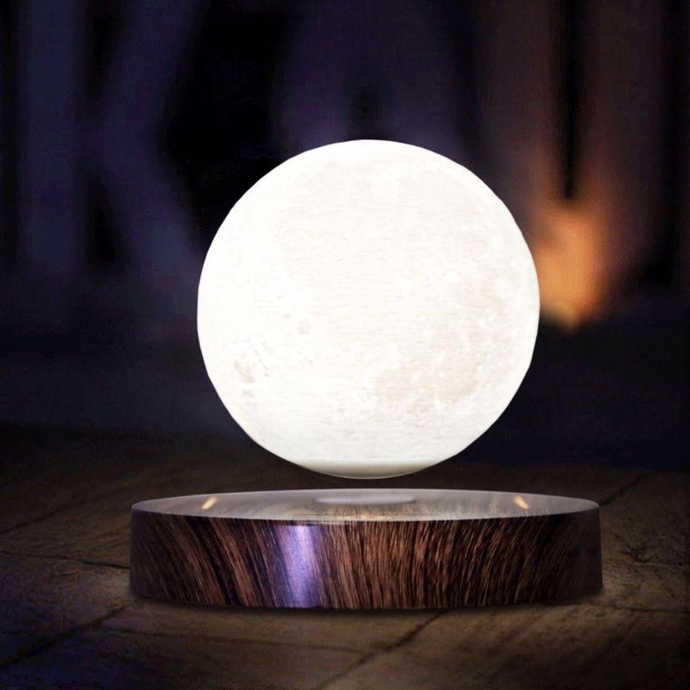 10cm 3D Magnetic Levitating Floating Moon Light Rotating Lunar Table Lamp Romantic Night Light wedding decoration Drop Shipping