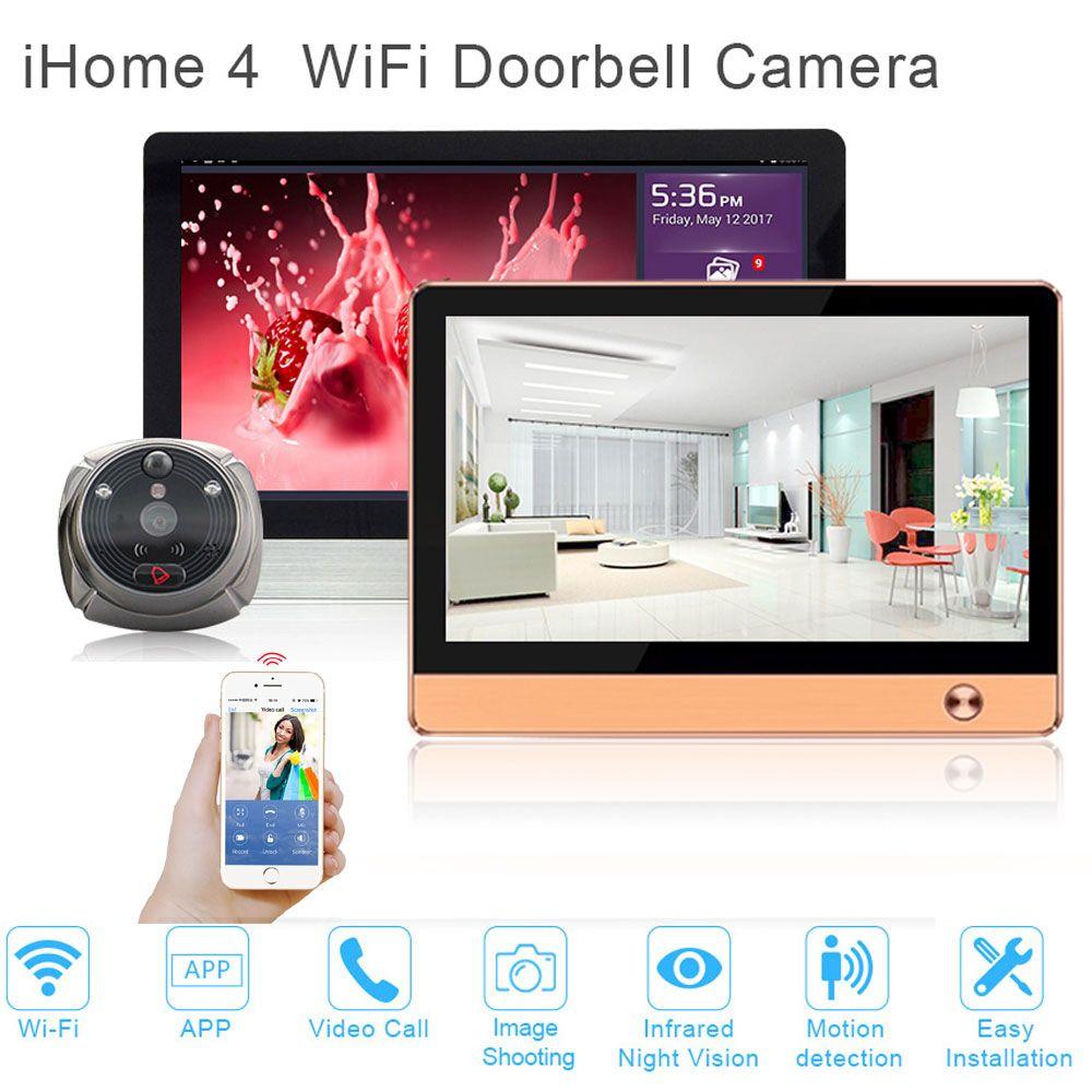 Upgraded Smart home security system WiFi Doorbell Camera WIFI video intercom door phone front door security Pir camera systems