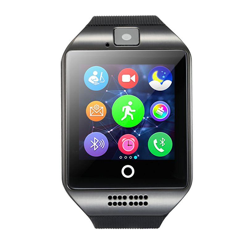 Q18 montre Smart watch avec Écran Tactile caméra TF carte Bluetooth smartwatch Facebook Whatsapp Twitter Sync SMS pour Android IOS Téléphone