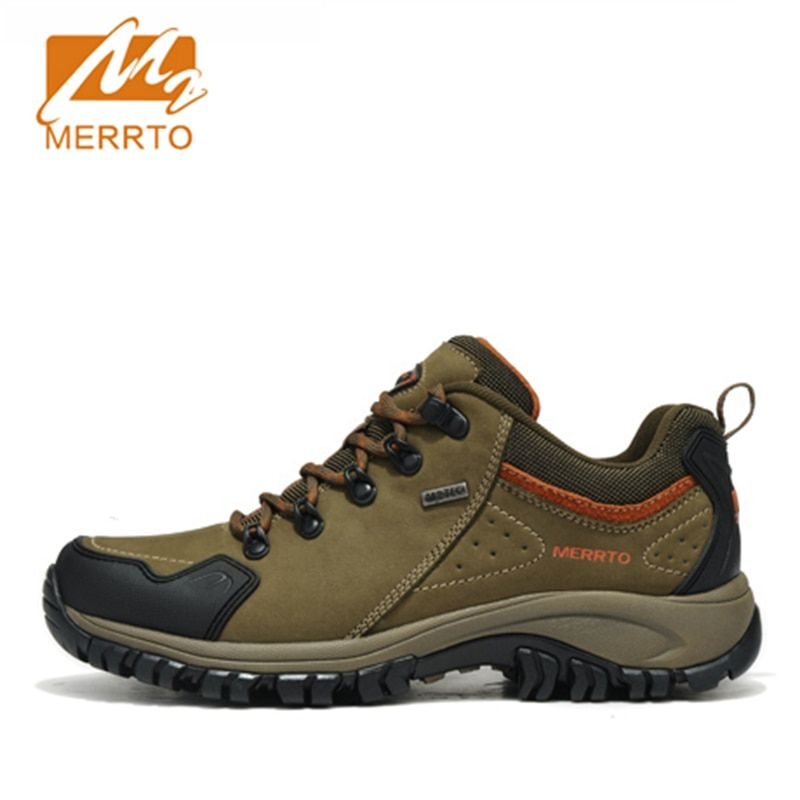 2018 Merrto Mens Walking Shoes M2-TEC Waterproof Outdoor Shoes Breathable Sports Shoes Full-grain Leather Free Shipping 18213