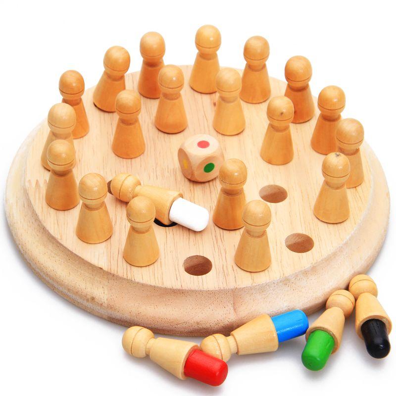 Montessori Enfants Jouet Bébé En Bois Mémoire En Développement Rivaliser Échecs D'apprentissage Éducation Préscolaire formation Brinquedos Juguets