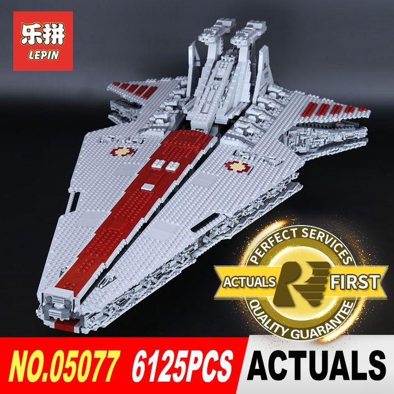 Lepin 05077 6125 STÜCKE Star Classic Wars Die Ucs ST04 Set Republic Cruiser Educational Building Blocks Bricks Spielzeug legoed Geschenk