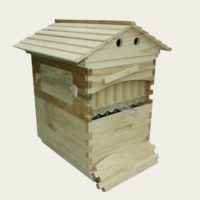 Freies schiff automatische beehive honig fluss hive für honey bee hive honeycomb 7 STÜCKE fluss rahmen beehive colmena fluss hive rahmen kits