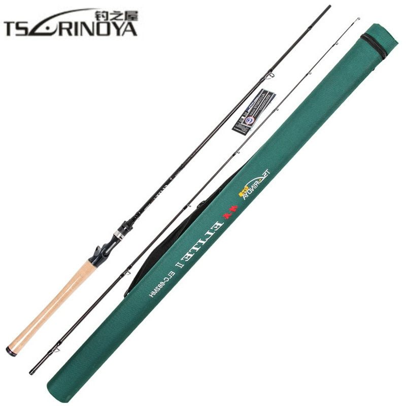 TSURINOYA 2.03m Casting Fishing Rod 2Section MH Power Carbon Lure Rod FUJI Reel Seat 3A Cork Handle Canne A Peche Fishing Tackle