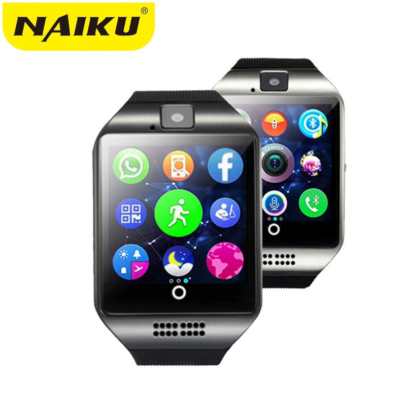 NAIKU Bluetooth Montre Smart Watch Q18 Avec Caméra Facebook Whatsapp Twitter Sync SMS Smartwatch Soutien SIM TF Carte Pour IOS Android
