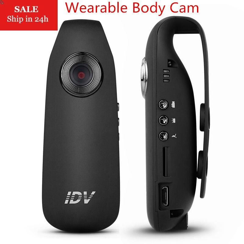 IDV007 Mini DV Camera Full HD 1080P Dash Cam Wearable Body Bike H.264 Camcorder