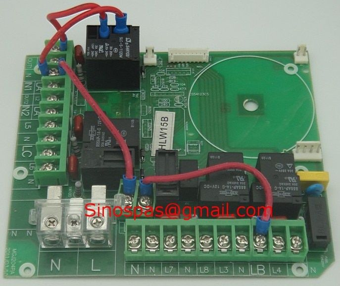 HLW15B HLW-A-8001 hot tub controller Pack PC Board -- High Voltage board for Monalisa,Jazzi,Sunrans Infinity Megastore spa