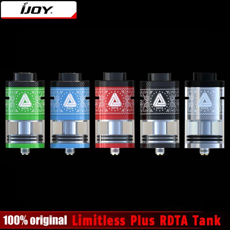 100% Original IJOY Limitless Plus RDTA 2 Post Deck 6.3ml Atomizer Rebuildable Genesis Style Tank Limitless RDTA Plus