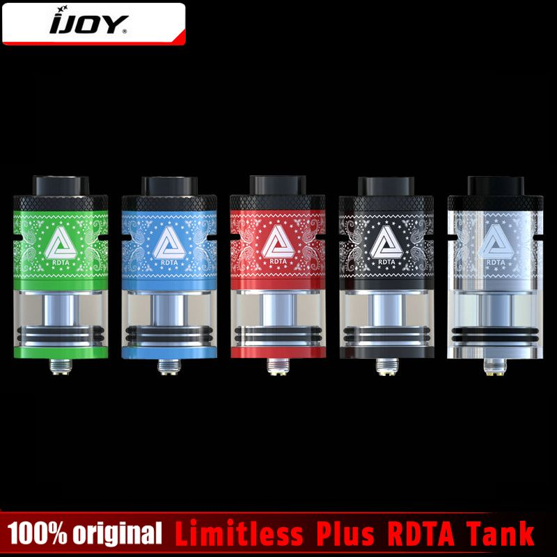 100% Original IJOY Limitless Plus RDTA 2 Post Deck 6.3ml Atomizer Rebuildable Genesis Style Tank Limitless RDTA Plus