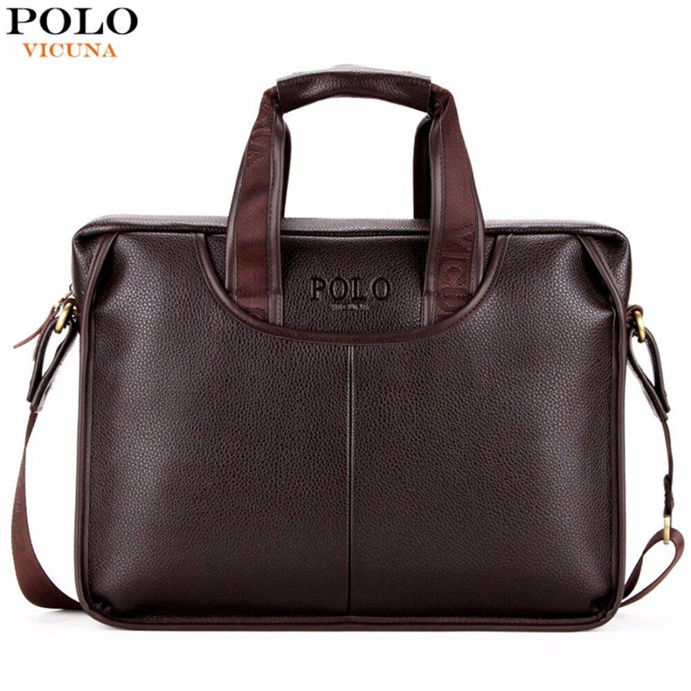 VICUNA POLO Classic Design Large Size Leather Briefcases Men Casual <font><b>Business</b></font> Man Bag Office Briefcase Bags Laptop Bag maletin