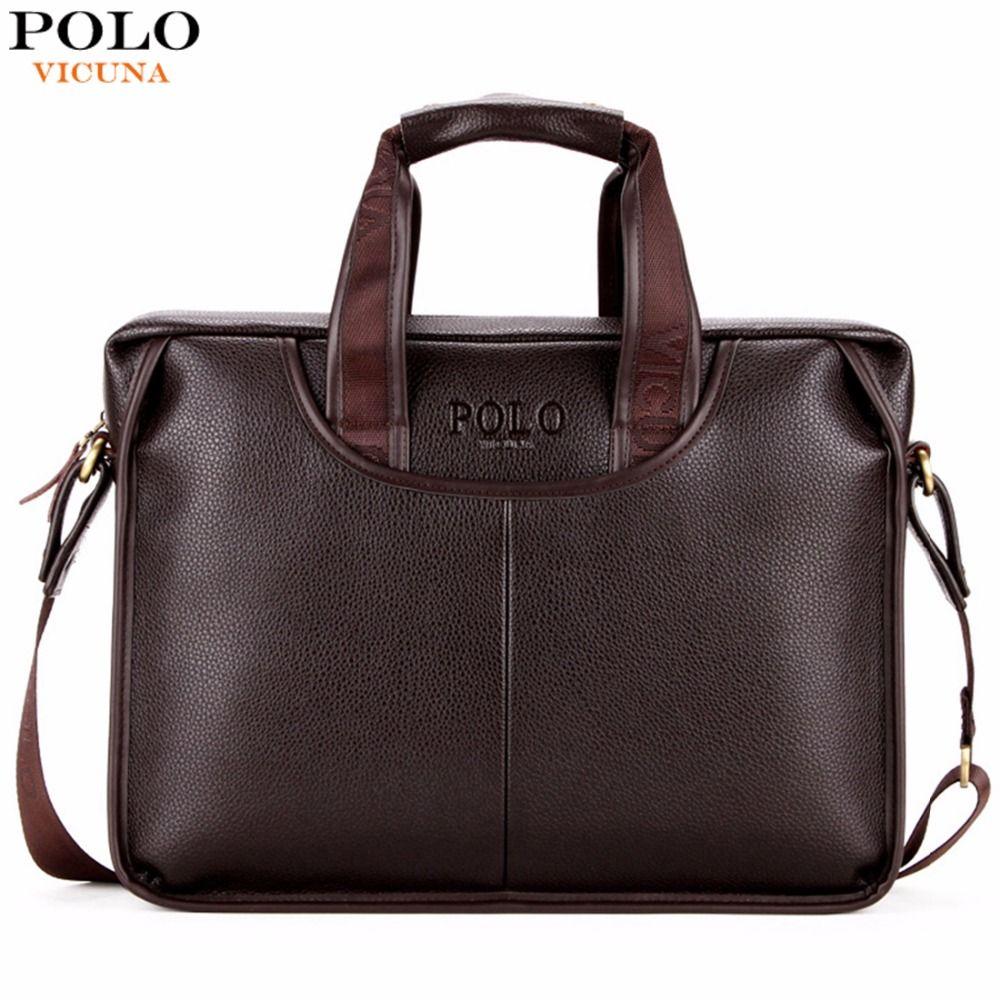 VIKUNJA POLO Klassische Design Großen Größe Leder-aktentaschen Männer Casual Geschäftsmann Tasche Büro Aktentaschen Laptoptasche maletin