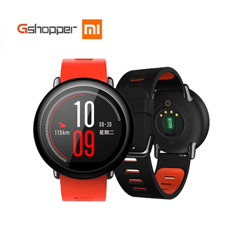 Original Xiaomi Huami Watch AMAZFIT Pace Sports <font><b>Smart</b></font> Watch English Version Bluetooth 4.0 Heart Rate Monitor GPS For Android IOS