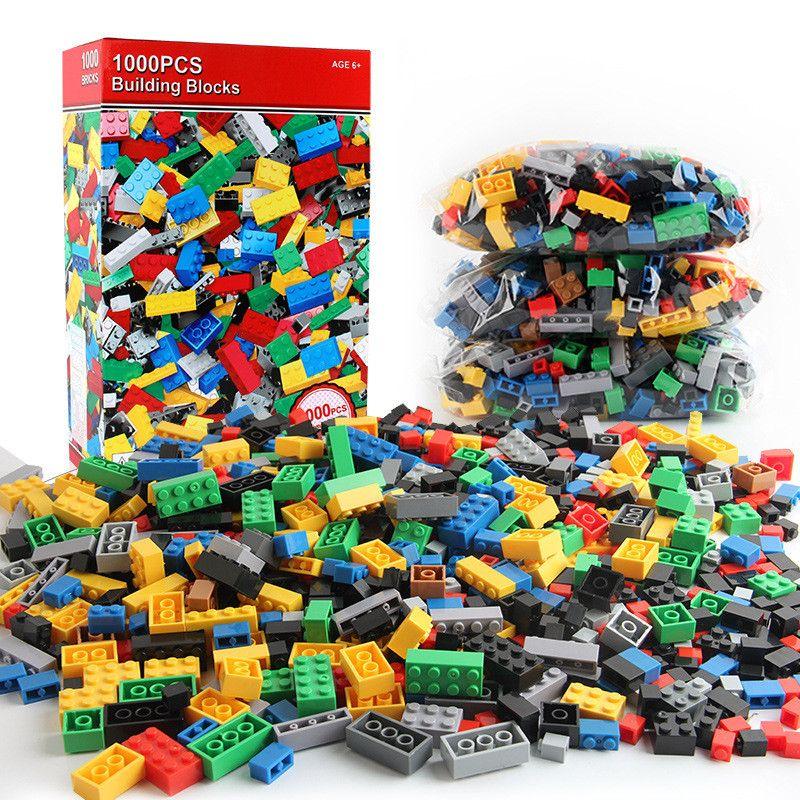 1000 pcs ville blocs de construction ensembles LegoINGLs bricolage briques créatives amis créateur pièces Brinquedos jouets éducatifs pour enfants