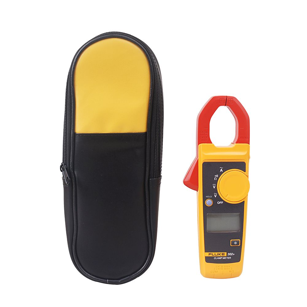 Fluke 302+ Digital Clamp Meter AC/DC Tester + soft Carry Case