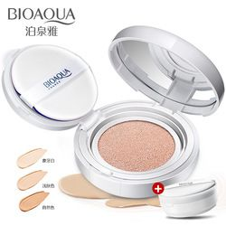 Bioaqua Air Cushion BB & CC Cream Foundation Basah Bubuk Concealer Whitening Pelembab Mencerahkan Tabir Surya Bare Makeup 15G