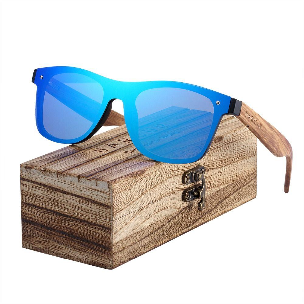BARCUR tendances Styles sans monture noir noyer bois lunettes de soleil hommes carré femmes lunettes de soleil Oculos Gafas Oculos de sol masculino
